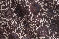 印度尼西亚蜡染布 库存照片