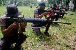 印度尼西亚警察反游击队员路线 图库摄影