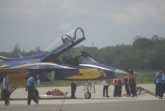 印度尼西亚语增加空运的空军队 库存图片