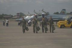 印度尼西亚语增加空运的空军队 免版税库存图片