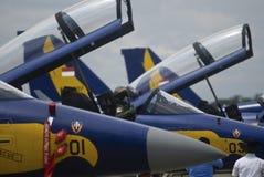 印度尼西亚语增加空运的空军队 免版税库存照片