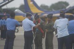 印度尼西亚语增加空运的空军队 免版税图库摄影