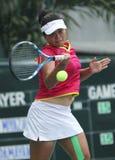 印度尼西亚语Ayu在actio的Fani Damayanti的女性网球运动员 库存图片