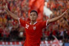 印度尼西亚足球麻烦 库存图片