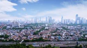 印度尼西亚首都雅加达全景都市风景晴天 库存图片