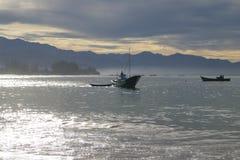 印度尼西亚:渔夫在亚齐 免版税库存照片