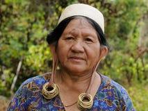 印度尼西亚-传统迪雅克人部族文化,婆罗洲 免版税图库摄影