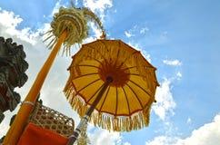 印度尼西亚巴厘岛传统伞 免版税图库摄影