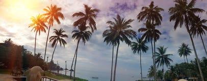 印度尼西亚 巴厘岛 在日落期间的一个海滩 免版税库存图片