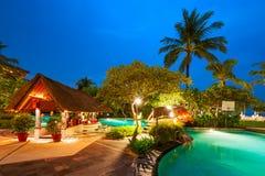 月光村庄,巴厘岛,印度尼西亚 免版税库存图片