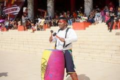 印度尼西亚 撞击声音乐表现在春节庆祝时 免版税库存照片