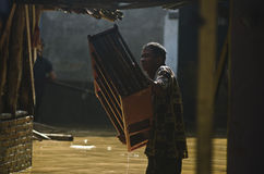 印度尼西亚2月的季风峰顶 免版税库存图片