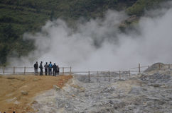 印度尼西亚DIENG火山的复合体 免版税库存图片