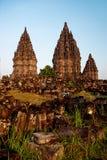 印度尼西亚Java prambanan寺庙日惹 免版税库存图片