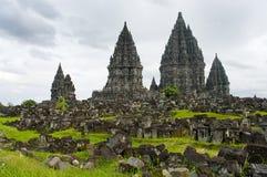 印度尼西亚Java prambanan寺庙日惹 免版税库存照片