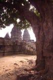 印度尼西亚Java prambanan寺庙 免版税库存照片