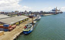 印度尼西亚makassar端口 免版税库存照片