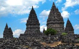 印度尼西亚prambanan寺庙日惹 库存照片