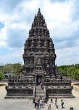 印度尼西亚prambanan寺庙日惹 免版税库存图片