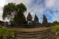 印度尼西亚prambanan寺庙日惹 库存图片
