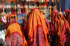 印度市场购物妇女 免版税库存图片