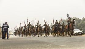 印度庆祝1月26日的第67共和国天 库存图片
