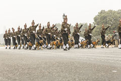 印度庆祝1月26日的第67共和国天 图库摄影