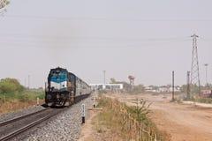 印度快报火车在拉贾斯坦 免版税图库摄影