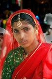 印度拉贾斯坦妇女 库存照片