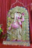 印度教神和女神Ganesha雕象 免版税库存图片
