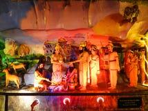 印度教神被绘的雕象 库存照片