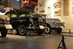 印度斯坦汽车模型在遗产运输博物馆塑造在古尔冈,哈里亚纳邦印度 免版税库存照片