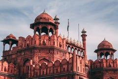 印度旅行旅游业背景-德里红堡奥瑟莉珀Qila德里-世界遗产名录站点 德里,印度 免版税库存图片