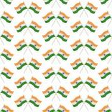 印度无缝的样式旗子  向量例证
