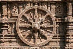 印度时间轮子 库存图片