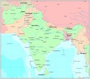 印度映射 免版税图库摄影
