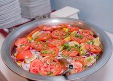 印度样式混杂的菜沙拉 免版税库存照片