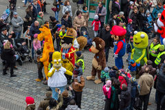 """印度桃花心木步行†""""可笑的游行纽伦堡2016年 免版税库存图片"""