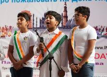 印度民间艺术的中心唱歌 免版税库存照片