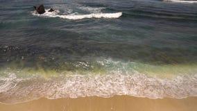 印度洋水洗涤黄色含沙岸 股票录像