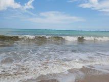 印度洋,海滩在巴厘岛,美丽的海岸 库存照片