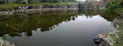 印度湖 免版税库存照片