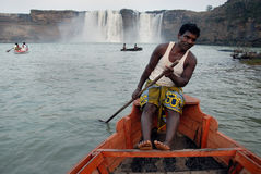 印度瀑布 免版税库存图片
