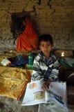 印度的农村学校 库存图片