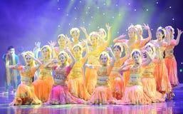 印度的列阵舞蹈 库存照片