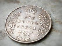 印度的古老硬币 免版税库存照片