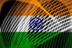 印度的国旗 向量例证
