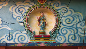 印度的女神 免版税图库摄影