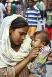 从印度的少妇。 免版税库存图片