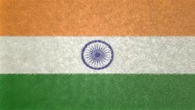 印度的旗子的原始的3D图象 免版税图库摄影